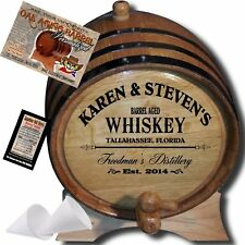 Genuine American Oak Whiskey Barrel, Beer & Wine Maker 2 Liter Whiskey Barrel