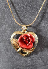 Flowers/Plants Gold Vintage Costume Necklaces