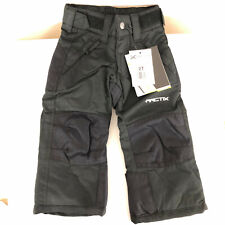 Arctix Youth Snow Pants Reinforced Wind Water Resistant Insulated Black Size 2T