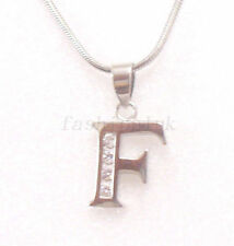 Charm White Gold Plated CZ Costume Necklaces & Pendants