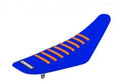 Enjoy KTM SX-F 07-10 Gripper Seat Cover Blue / Orange Rib Factory Grippy Mxgp