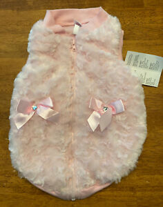NWT Pink Smoochie Pooch Furry Jacket Large Breed 21-24 Inch