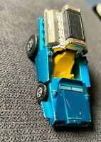 Vintage 1972 MATCHBOX Superfast 42 Tyre Fryer Blue Yellow Interior Toy Car