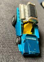 Vintage 1972 MATCHBOX Superfast42 Tyre Fryer Blue Yellow Interior Toy Car