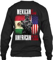 Mexican/american U.s. Military Mexican By Blood Gildan Long Sleeve Tee T-Shirt
