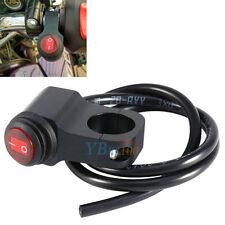 Moto Etanche Guidon LED Phare Brouillard Spot Lumière Interrupteur On Off Noir