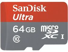 Sandisk 64GB Ultra Micro SD SDHC TF Memory Card 100MBs UHSI Class10 NEW
