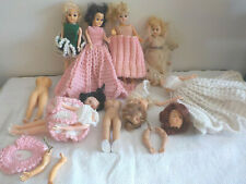Vintage Dolls and Parts 1950's 1960's with Clothes Eyes Open Close Hard Plastic