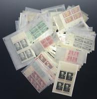 United States MNH 100 Different Plate/Zip/ME/Copyright Blocks  [1/2c-8c]