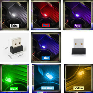 1x Mini USB LED Light Colorful Light Lamp Car Atmosphere Lamp Bright Accessories