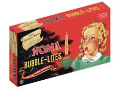 Noma Bubble Lites Christmas Lights Nostalgia Series String Of 7 in Box Vtg Xmas