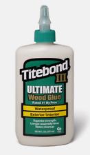 Titebond III ULTIMATE Tan Wood Glue 8 oz. Waterproof Interior/Exterior 1413 NEW!