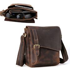 Vintage Men's Genuine Leather Sling Messenger Shoulder Bag Crossbody Satchel
