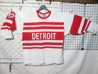 NEW CCM NHL Detroit Red Wings Miller Lite, White/Red Stitched Hockey Jersey XL