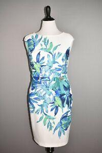JOSEPH RIBKOFF NEW $255 Vanilla Multi Floral Sheath Dress Size 12
