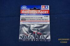 Tamiya 15493 Mini 4WD JR 2mm Aluminum Lock Nut Red - 5pcs