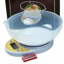 Multi Function Digital Kitchen Scale w/  Weighing Bowl for Food Kitchen 11lb 5kg