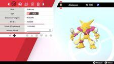 Pokemon Alakazam shiny 6IV + masterball - Battle Ready - Epée/Bouclier