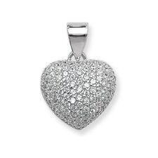 "Sterling Silver Love & Hearts 16 - 17.99"" Fine Necklaces & Pendants"