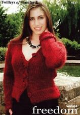 """Twilleys Knitting Pattern 9027 Ladies Knitted Jacket Buttons 32-42"""" Super Chunky"""