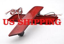 2 Red Len 60-SMD LED Bumper Reflector Marker Light For 2013-15 Honda Civic Sedan