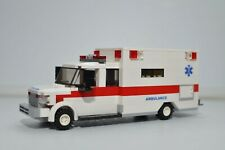 LEGO Ambulance City EMT Medic Truck Red Stripe White Custom Speed Champions