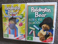 PADDINGTON BEAR...2 dvd's...great items, Paddington at school and birthday!
