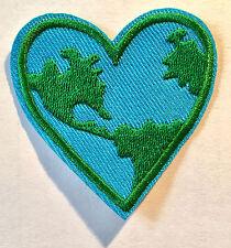 Tierra corazón aufbügler Patch Earth Heart Patch Peace Universe aplicación amor