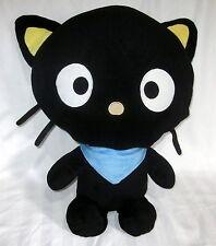 "SANRIO FIESTA 2011 CHOCOCAT LARGE 20"" PLUSH SOFT BLACK HELLO KITTY PILLOW PAL"