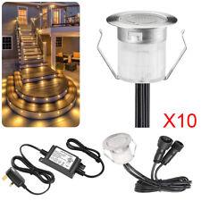 10pcs/Set 30mm 12V Garden Home Floor Decor Path Stair LED Deck Lights warm white