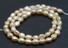 6-7mm Pink Baroque Natural Pearl Beads for Jewelry Making DIY Loose Strands 14''
