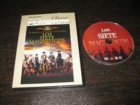 Los Sette Magnifico DVD Yul Brynner Eli Wallach Steve Mcqueen con Cornice
