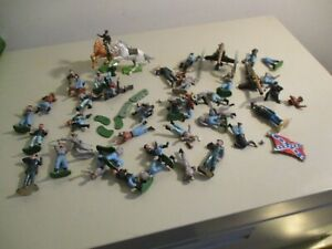 Estate Find Old Civil War  Plastic Soldiers and Grant  No Reserve