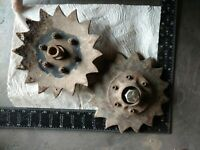 Steampunk Vintage  Industrial Machine Metal Art Antique Aged Farm Parts