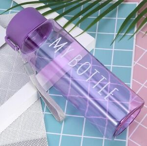 500ml Sports Water Bottle Couple Capacity Student Outdoor Portable Gym Drinkware