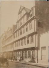 Germany, Frankfurt am Main, Goethe's House  Vintage albumen print.  Tirag