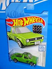Hot Wheels 2019 Factory Set Volkswagen Series #177 Caddy Pickup Green