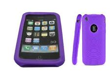 Purple Silicon Case for iPhone 2G 3G