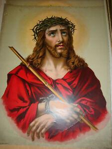 """Ecce Homo Jesus 16"""" X 20"""" Lithograph"""