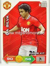 Adrenalyn XL Manchester United 11/12 - #009 Fabio Da Silva - Home Kit