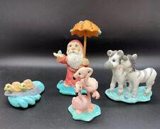 Dreamsicles Noah's Ark Cast Art Decor 1998 figurines Noah Flamingo Zebra Turtle
