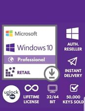 MICROSOFT WINDOWS 10 PRO 32 64 BIT PROFESSIONAL LICENSE KEY INSTANT DELIVERY NEW
