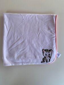 Gymboree SHY LITTLE KITTEN REVERSIBLE BLANKET Girl Golden Books Cat Kitty