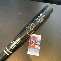 Frank Thomas Signed 1990's Worth Game Issued Baseball Bat With JSA COA