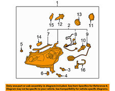 Infiniti OEM 2008 M35-Headlamp Assy Right 26010EH10D - Xenon w/ Auto Level