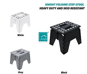 KNIGHT Folding Step Strong Heavy Duty Skid Resistant Stool for Kids and Adults