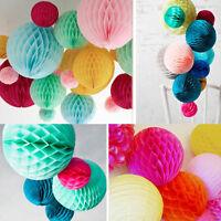 10PC Tissue paper Honeycomb Ball Lanterns poms Wedding Birthday Party Home Decor