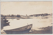 CAPE PORPOISE, ME. LOOKING UP THE COVE ANTIQUE REAL PHOTO POSTCARD