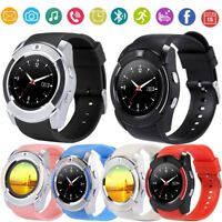 V8 Smart Wrist Watch Bluetooth SIM GSM Fitness Phone Mate For iOS Android iPhone