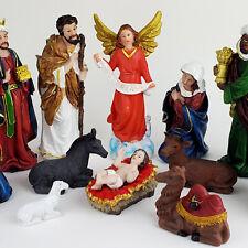 """8"""" Inch Christmas Nativity Scene Set Baby Jesus Nacimiento Nino Dios Navidad 13p"""